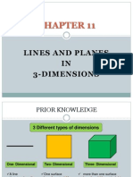 Form 4 Chapter 11 Lines and Planes in 3-Dimensions