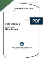 Soal Modul 3 WebDesign LKS SMK 2013