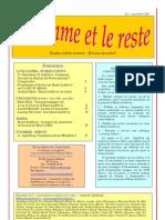 La Somme Et La Reste. Num. 1.