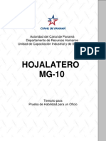 Hojalatero Mg 10