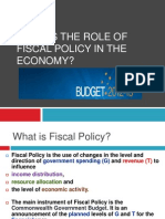 What is the Role of Fiscal Policy in the Economy
