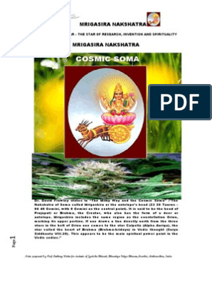 MRIGASIRA NAKSHATRA - THE STAR OF RESEARCH INVENTION AND
