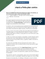 CNC presentará a Peña plan contra migración