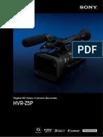 Sony HVR-Z5P Brochure