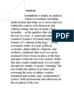 Textual and Contextual Analysis