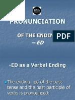 Pronunciation Final Ed