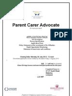Parent Carer Advocate July 2013