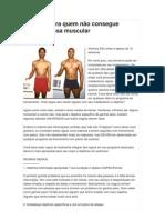 15 Dicas para quem não consegue ganhar massa muscular