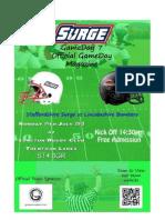 Surge v Bombers Gameday Magazine