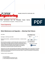 Boiler Maintenance and Upgrades — Attacking Tube Failures - Power Engineering