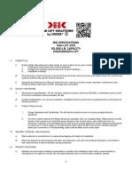 Bid Specifications Kar Lift 250 55,000 LB Capacity Pantograph Lift