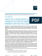 WEDF 2012 Highlights Role of Finance Access in Emerging Market Export Success