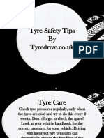 Tyre Safety Tips by Tyredrive.co.Uk