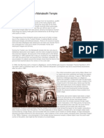 A Short History of the Mahabodhi Temple in Bodhgaya