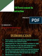 Construction Using Ferrocement