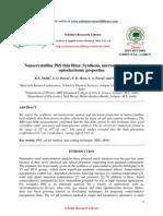 Nanocrystalline PbS thin films