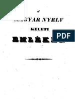 Borgátai Szabó József (1789-1885) - A Magyar Nyelv Keleti Emlékei 1844.