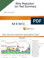 Wire Reduction Optimization Presentation