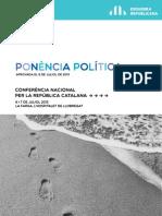Conferència Nacional 2013. Ponència política