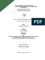 Conception (s) didactique (s) et enjeux éducationnels de la compétence interculturelle dans l'approche des textes en FLE–cas du manuel scolaire algérien
