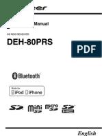 Pioneer DEH-80PRS Manual