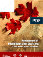 US Army Dead Bodies Field Manual