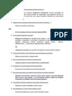 Intrebari Examen Economie - Posibile REZOLVARI