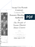 Private Use Permit Between The Forestry Development Authority and the People of Tarsue District, Sinoe County August 12, 2011