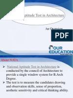 National Aptitude Test in Architecture,NATA