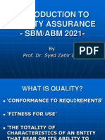 Quality Assurance Introduction