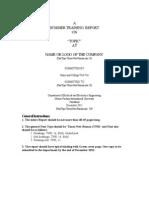 Summer Training Format