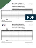 Registrar's changing and adding form.xlsx