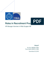 HR Manager Interview Report_Group 5