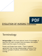 Evolution of Nursing Theories