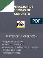 OPERACIÓN DE BOMBAS DE CONCRETO
