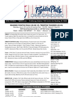 070613 Reading Fightins Game Notes