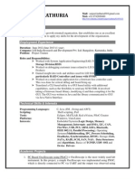 Resume Sample for a Postgraduate(fresher)