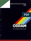 Osram General Lighting Products Catalog 1986