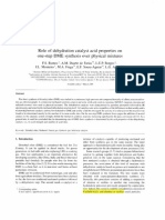 Role of Dehydration Catalyst