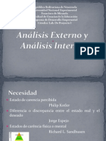 Análisis Interno y Externo (Tema 4)