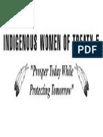 Indigenous Women of Treaty 5 Banner