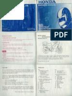 Honda VFR750 RC24 Owners Manual