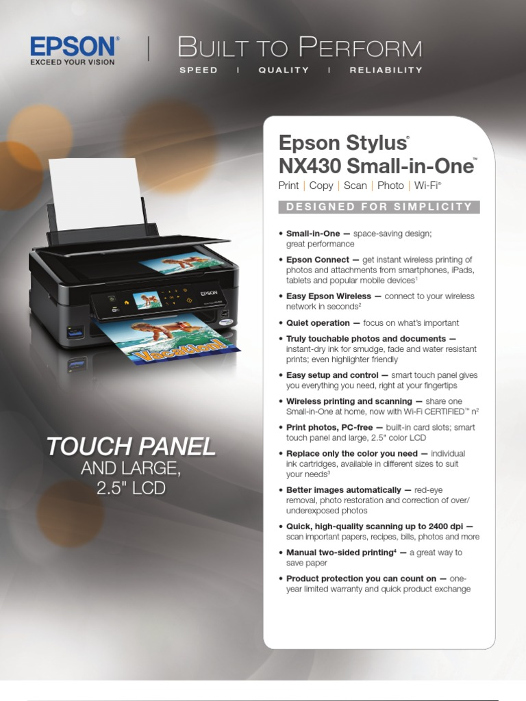 Epson Stylus Nx430 Image Scanner Printer Computing Install Wireless Diagram