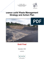 Sialkot Solid Waste Management Strategy and Action Plan