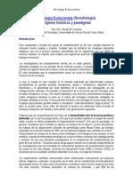Psicología Evolucionista (Sociobiología). Orígenes historicos y paradigmas - Caminha, R. M.