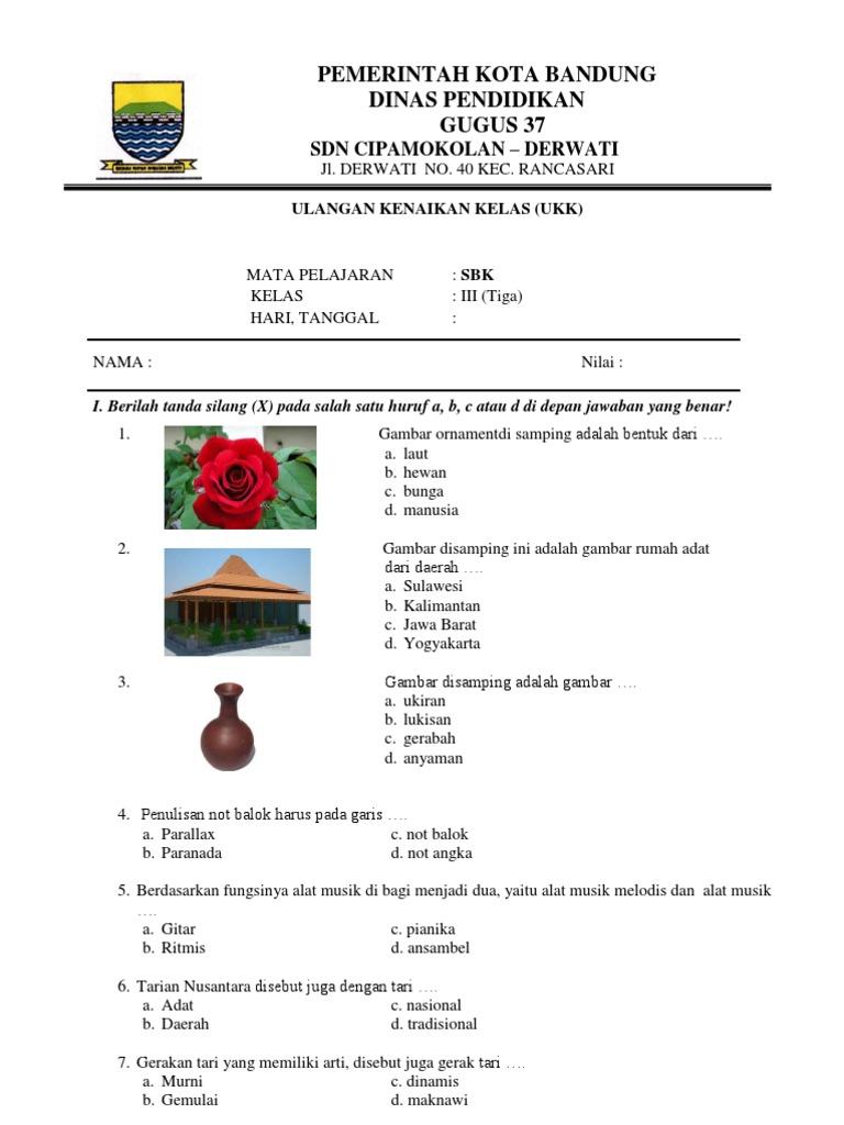 Soal Ukk Sbk Kelas 3 Sd