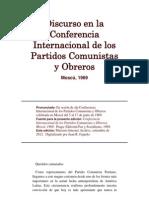 Discurso en La Conferencia Internacional de Los Partidos Comunistas y Obreros