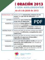 Guía Oración Julio 2013
