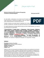 Boletín de Oración por los Cristianos Perseguidos JUNIO_2013 (1)
