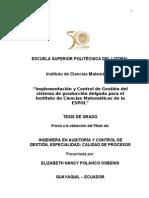 Implementación y Control de Gestión del sistema de producción delgada (ESBELTA) para el Instituto